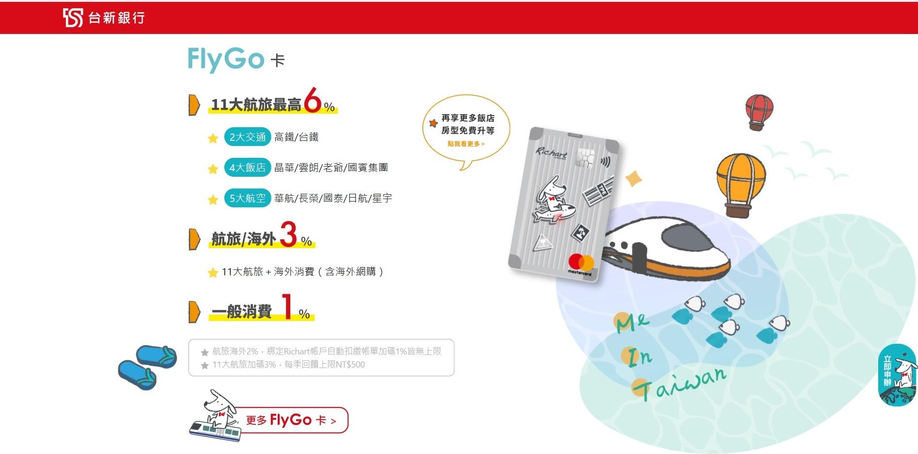 台新Richart飛狗FlyGo卡、@GoGo卡2020全新出擊!